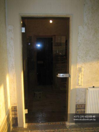dsb 10 338x450 - Двери стеклянные распашные, маятниковые без коробки