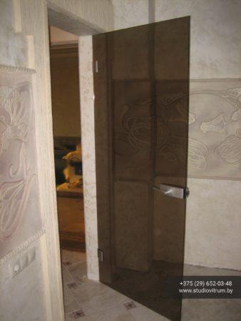 dsb 13 338x450 - Двери стеклянные распашные, маятниковые без коробки