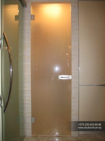 dsb 15 338x450 - Двери стеклянные распашные, маятниковые без коробки