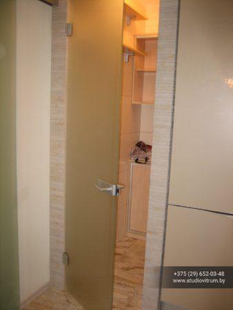 dsb 16 338x450 - Двери стеклянные распашные, маятниковые без коробки