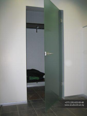 dsb 20 338x450 - Двери стеклянные распашные, маятниковые без коробки