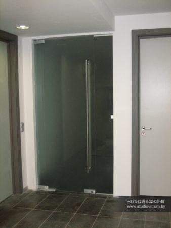 dsb 4 338x450 - Двери стеклянные распашные, маятниковые без коробки
