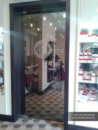 dsb 5 338x450 - Двери стеклянные распашные, маятниковые без коробки