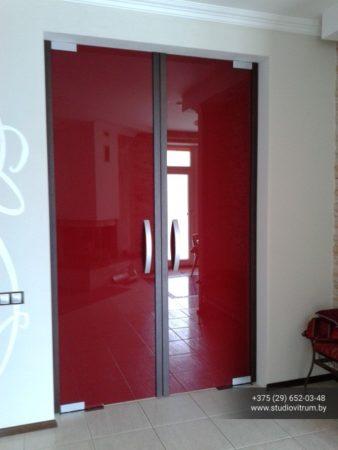 dsb 6 338x450 - Двери стеклянные распашные, маятниковые без коробки