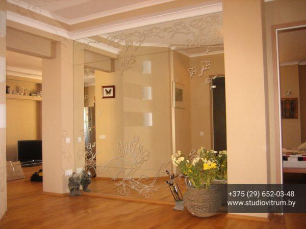 psz 24 600x450 - Панно и зашивка стен стеклом и зеркалом